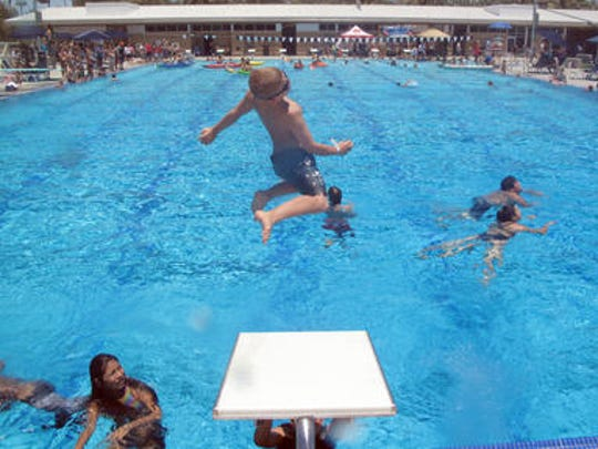 The Palm Desert Aquatic Center is one of several places to cool down this summer in the Coachella Valley.