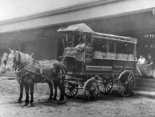 A photo from the 1890s shows a horse-drawn wagon at