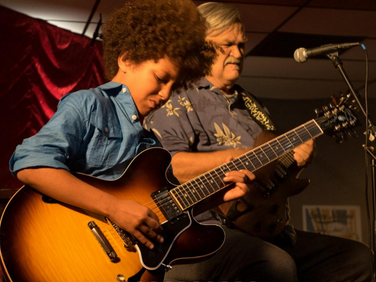 Guitar prodigy Brandon 'Taz' Niederauer and Col. Bruce Hampton are among the stars of 'Here Comes Rusty.'