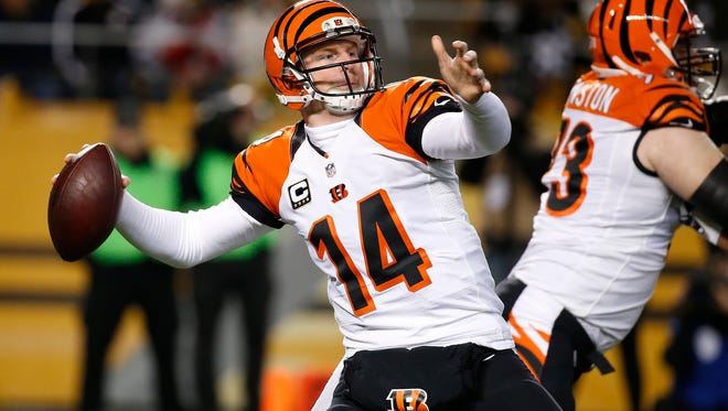 Bengals quarterback Andy Dalton on Dec. 28.