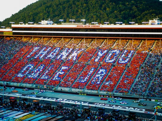 Fans display appreciation for driver Dale Earnhardt