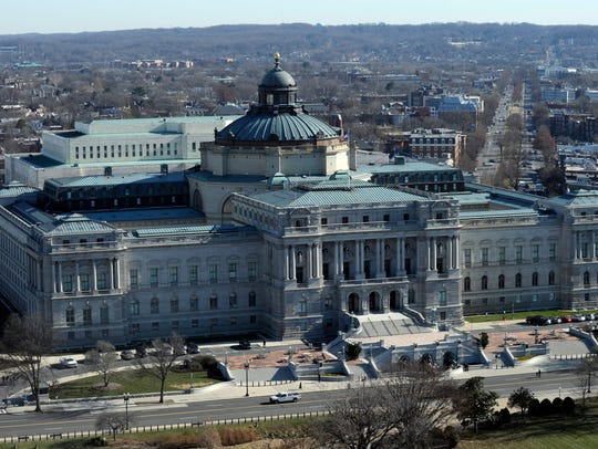 A view of the Library of Congress from near the top