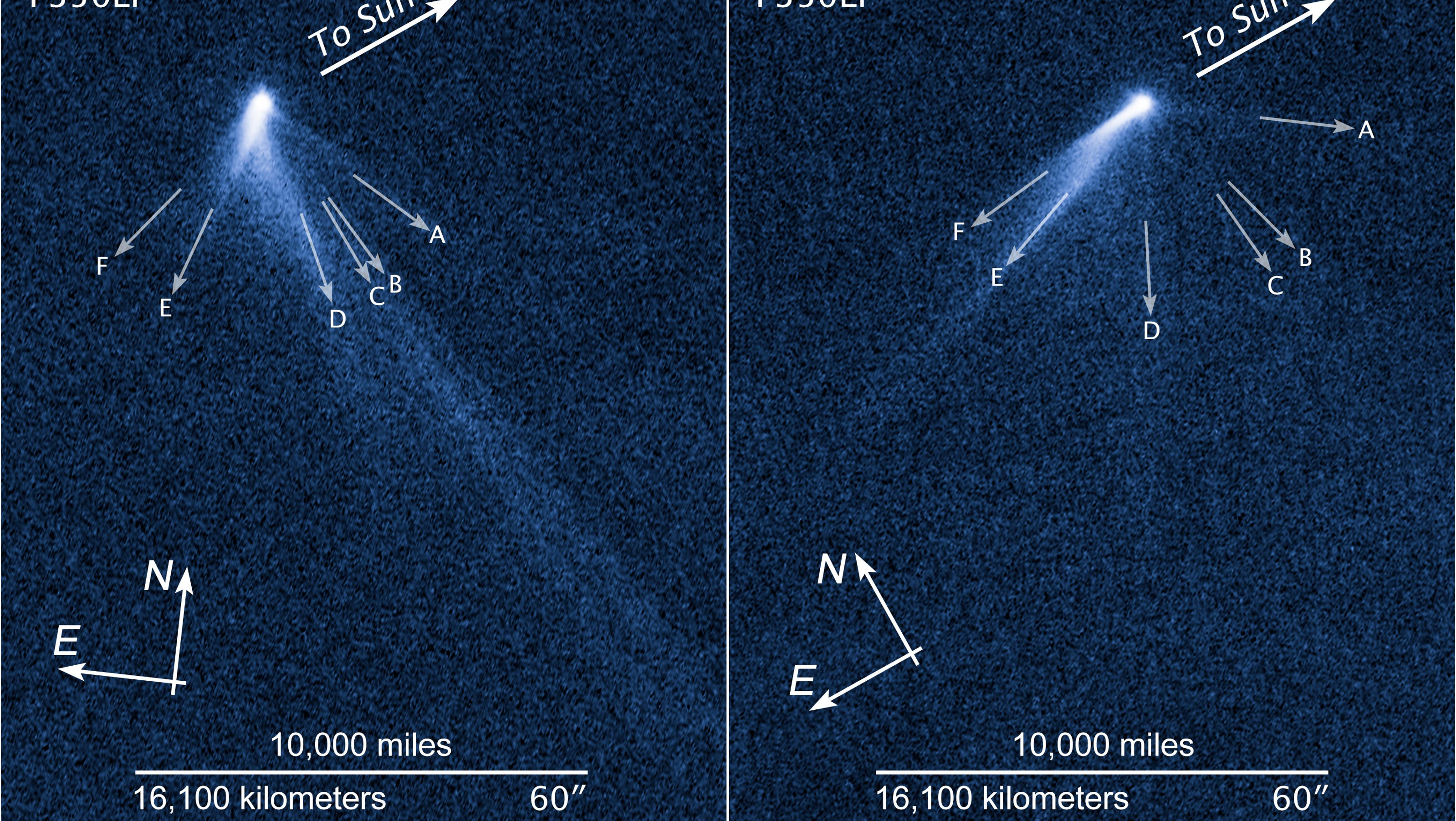 Weird asteroid discovered with 6 comet-like tails