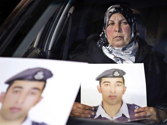 The mother of Jordanian pilot Lt. Muath al-Kaseasbeh