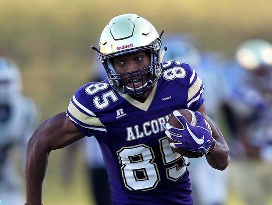 Alcorn State receiver Norlando Veals caught nine passes