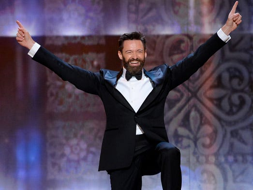 Hugh Jackman speaks onstage during the 68th Annual Tony Awards at Radio City Music Hall on June 8, 2014 in New York City.