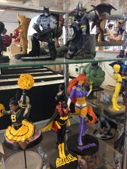The store displays an impressive amount of statues