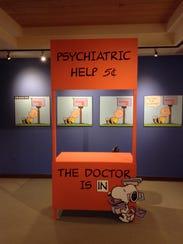 """""""Heartbreak in Peanuts,"""" an exhibit, featuring Snoopy,"""