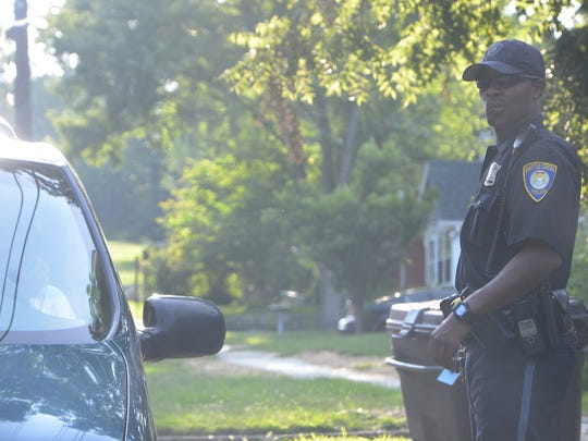 Officer Tillman responds to a complaint on the southside of Battle Creek