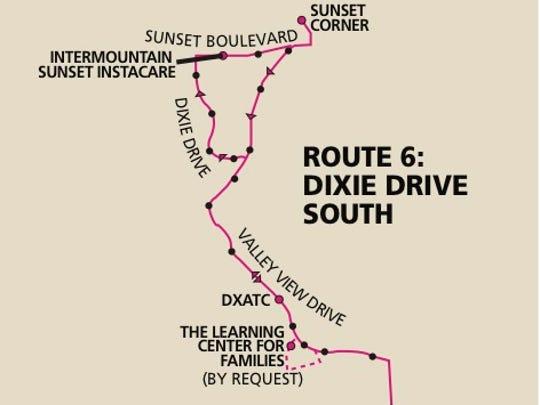 SunTran bus route 6.