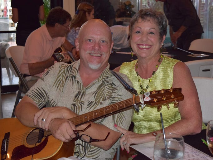 Contestants Val & David Dean at the Singer Songwriter Competition + Silent Auction hosted by SWFL Music/Hope by Song at Capt'n Fishbone's in North Fort Myers.