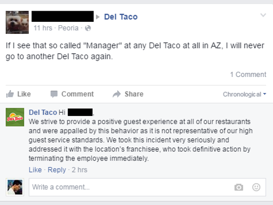 Footage Of Flippant Del Taco Manager In Peoria Goes Viral
