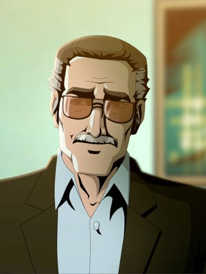 Stan Lee stars in and  is executive producer  of the animated movie  'Stan Lee's Mighty 7' on  the Hub Network on Saturday at 8 p.m. ET/ 5 p.m. PT