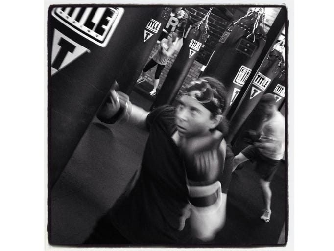 Boxing for fitness in Canton.