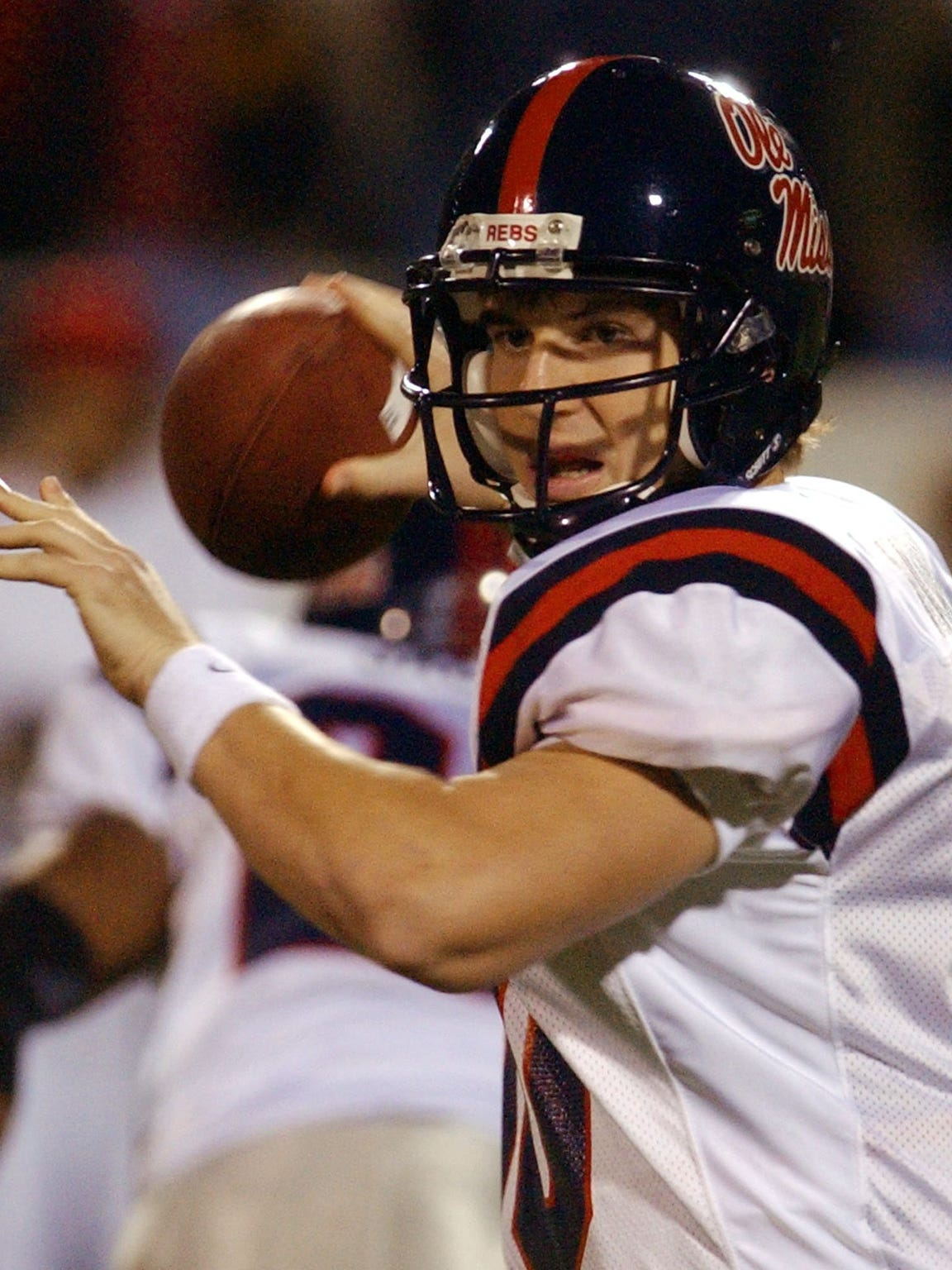 Eli Manning led Ole Miss to a share of the 2003 SEC West championship, was a finalist for the Heisman Trophy and was the No. 1 pick in the 2004 NFL Draft.