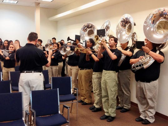 The Cobre High School Pride Band performed for the Grant County Board of County Commissioners on May 8 after the band won its 16th State Championship title. Freshman orientation is Aug. 14.