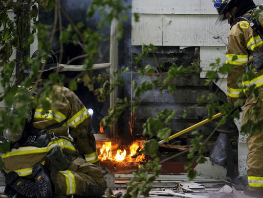 Crews from nine different Lebanon County fire companies battled a house fire at 53 Fox Road in South Lebanon Township on Tuesday. In addition to the flames, the firefighters had to contend with high heat and humidity.
