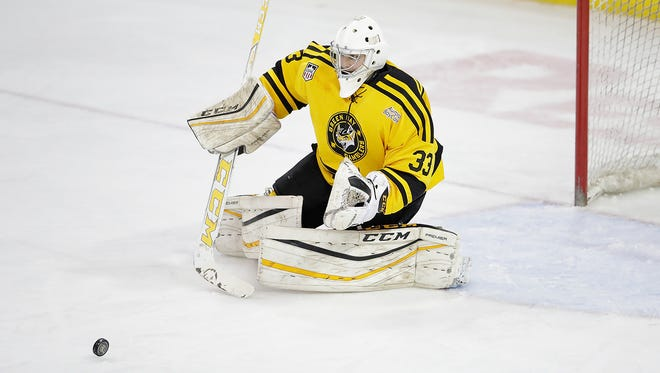 Maksim Zhukov has gone 18-8-2 with a 2.26 goals-against average and .912 save percentage in his first season with the Green Bay Gamblers.
