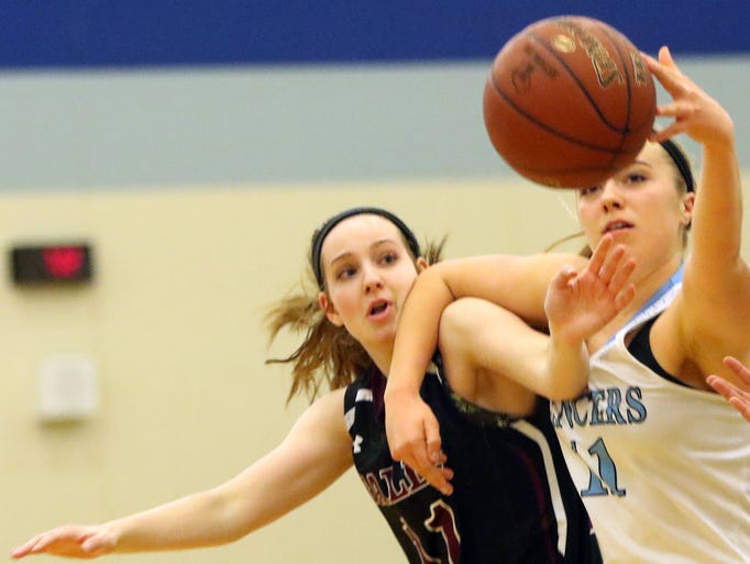 Menomonee Falls' Karly Volz and Brookfield Central's