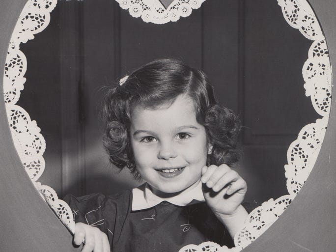 Ruth Ann Marner, 3 years old, Indianapolis makes a perfect picture for a Valentine in this undated photo from the 1950s.