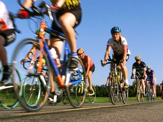 Riders prepare for a past Apple Duathlon. Now is the