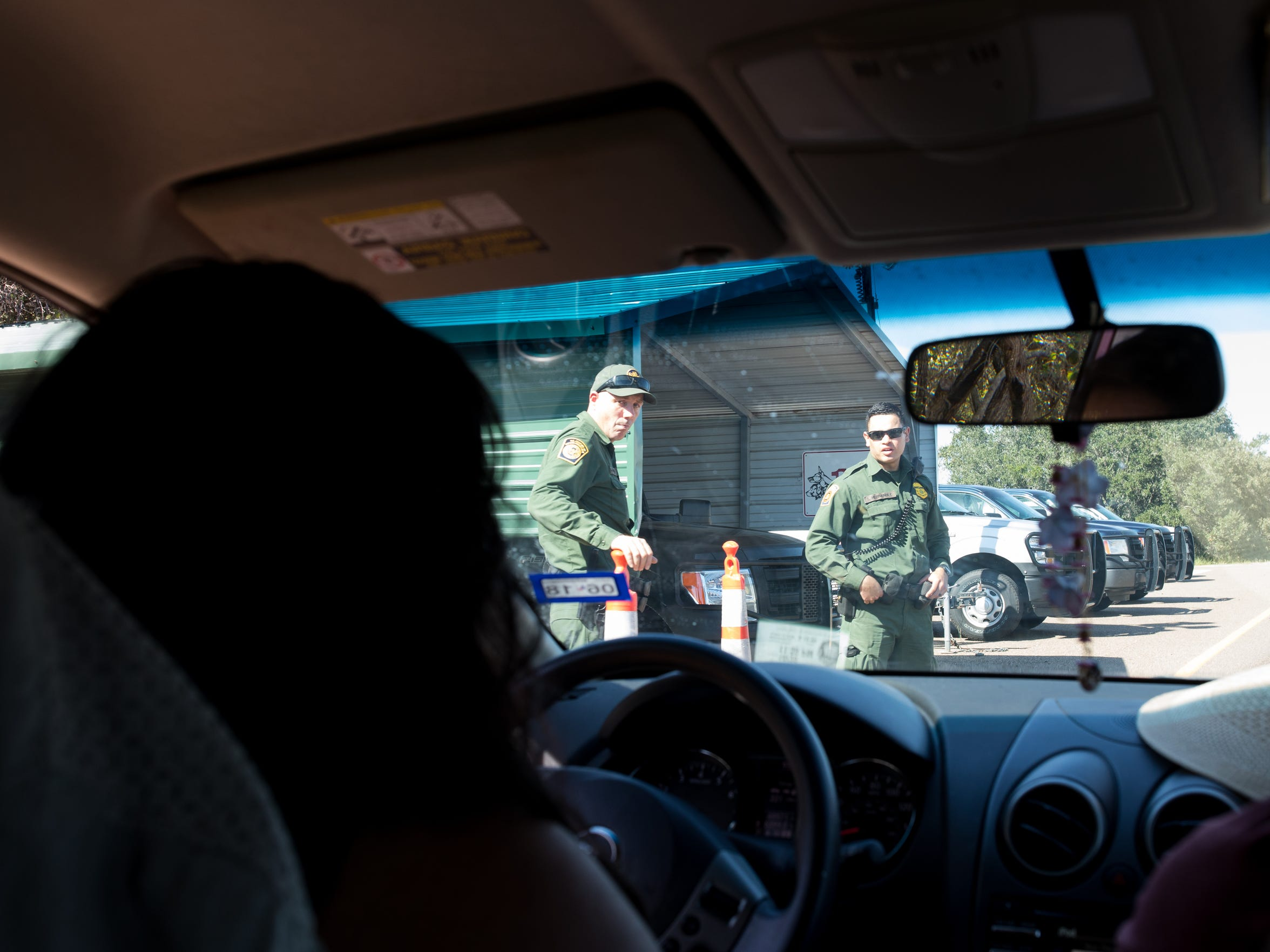 DACA recipient Maria Hernandez on her way to Kingsville Tx enters the interior Border Patrol checkpoint in Sarita, Texas after visiting her mother in Alamo on Sunday Nov. 5, 2017. On September Maria was detained by the Border Patrol at the Sarita Texas interior checkpoint for two hours to verify her DACA status.