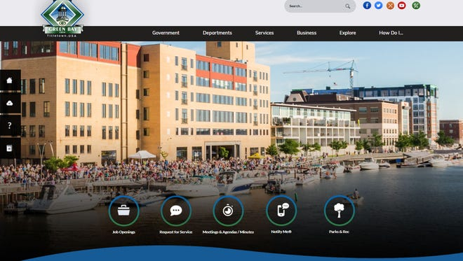 The city of Green Bay's new website.