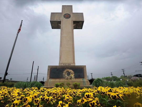 "The Supreme Court will decide whether the ""Peace Cross,"" a memorial to World War I veterans in Bladensburg, Maryland, must be removed from public land because of religious connotations. Algerina Perna/AP The Supreme Court will decide whether the ""Peace Cross,"" a memorial to World War I veterans in Bladensburg, Maryland, must be removed from public land because of religious connotations."