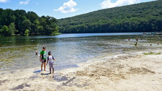 Swimming is allowed in three areas of Hunting Creek Lake. There are also canoes, kayaks and pedal boats to rent.
