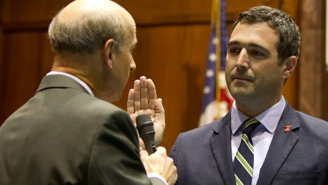 Tucson state Rep. Demion Clinco is sworn in.