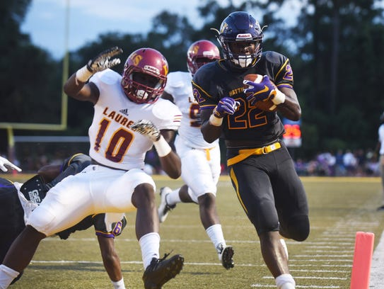 Hattiesburg High School running back Fabian Franklin