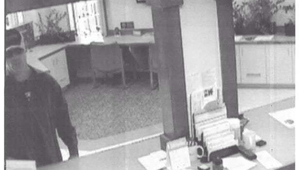 Surveillance photo of suspect in the robbery of Flagstar Bank in Westland.