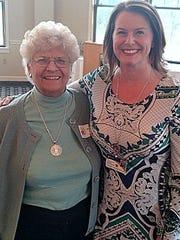Corning Hospital Volunteer of the Year Rosalie Grigsby joins Ericka Graves, director of volunteer services.