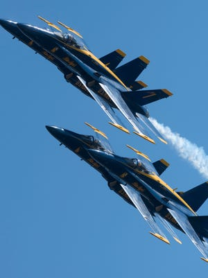 The Blue Angels returns to the skies over Pensacola Naval Air Station Tuesday morning. The team held its first local public practice of the 2015 season behind the National Museum of Naval Aviation.