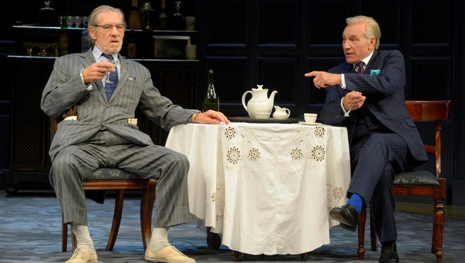 Ian McKellen, left, and Patrick Stewart in 'No Man's Land,' performed in rep with 'Waiting for Godot.'