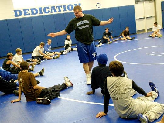 11/27/05 Stephen Decatur wrestling coach Kevin Gilligan