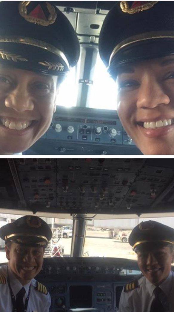 Delta First Officer Dawn Cook posted this picture to