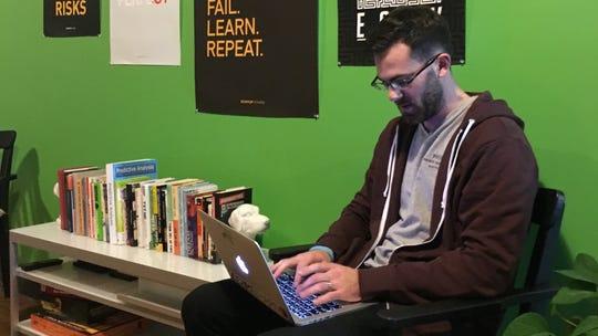 Joe Scanlan, co-founder, works in the Ward4 office