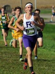 Fremont Ross's Matt Kuyken runs in the state cross country meet Saturday at National Trail Raceway in Hebron.