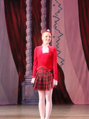 Cara O'Neill 16, as a flower soloist in The Nutcracker