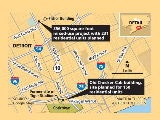Two upcoming developments in Detroit add housing to downtown.