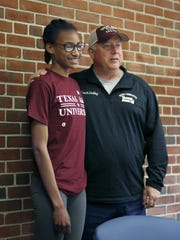 National high school record-holder Sammy Watson with