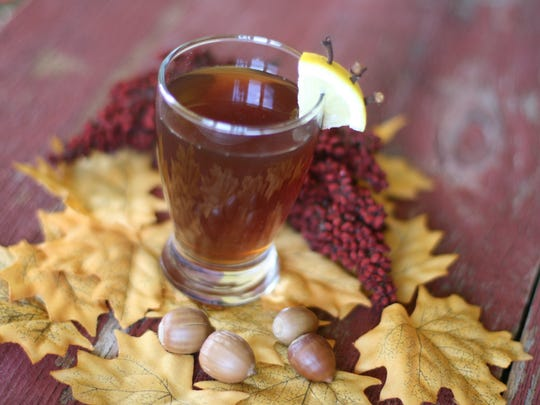 Fernet Apple Hot Toddy has rum, Angostura bitters and a liqueur called Fernet Branca.