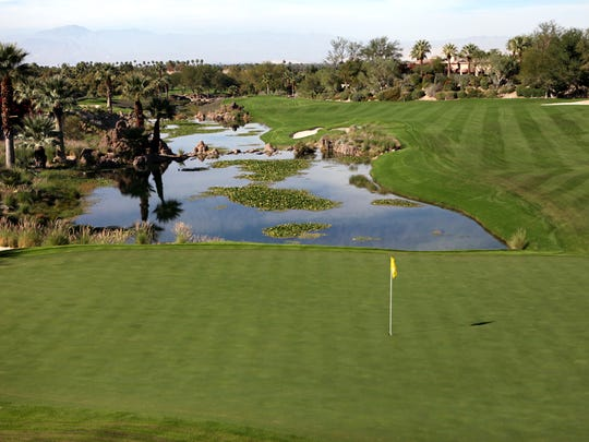 The 16th hole of the Mountain Course at The Vintage Club in Indian Wells tops Larry Bohannan's list of the top 100 golf holes in the Coachella Valley.