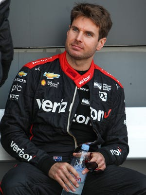 Verizon IndyCar Series driver Will Power looks on prior to the ABC Supply 500 at Pocono Raceway.