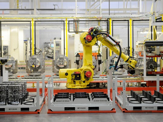 The Infiniti Decherd Powertrain Plant in Decherd, Tenn., features many robots and other automation.