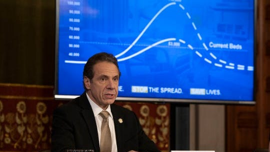 Gov. Andrew Cuomo provided a coronavirus update during a briefing in the Red Room at the state Capitol in Albany on March 22, 2020.