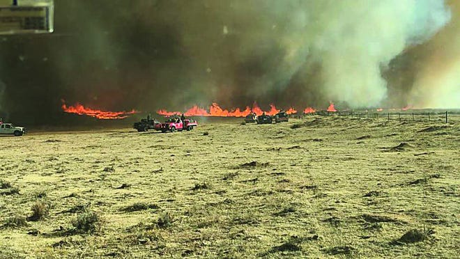 The Southwest Wildland Task Force from Kansas was requested to assist Beaver, Oklahoma on the 421 Fire.