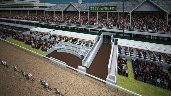 Rendering of planned suites at Churchill Downs.