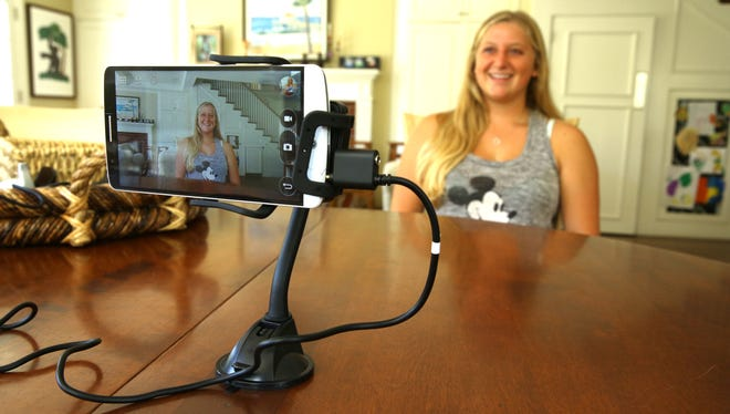 """Lana Granow is captured on video in a smartphone """"time capsule,"""" shortly before leaving home to go to college."""